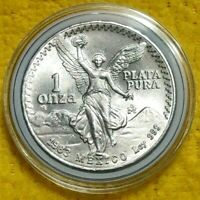 1983 1 oz Silver Libertad 1 Onza Plata Pura BU Coin! From New Roll ! Mexico Mint