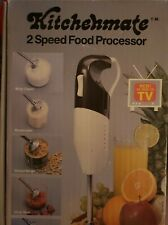 Ln Kitchenmate 2 Speed Food Processor Stick Immersion Blender As Seen On Tv, Vtg