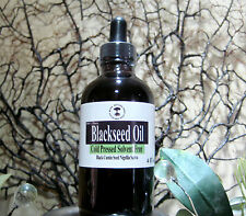Black Cumin Seed Oil (Nigella Sativa) Pure Cold Pressed Organic Blackseed 4 oz.
