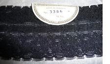 12yds vintage bas haut 7cm élastique noir fleur dentelle