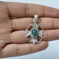 Handmade 925 Solid Sterling Silver Indian Jewelry Gemstone Pendant