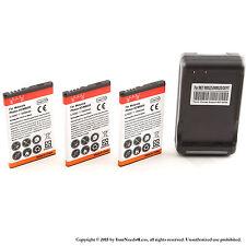 3 x 1950mAh Li-ion battery for Motorola Photon 4G; MB855; HF5X + Charger