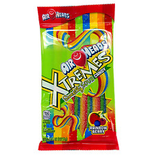 NEW SEALED AIRHEADS XTREMES SWEETLYSOUR BELTS RAINBOW BERRY CANDY 4.5 OZ