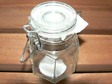 10 mini jars glass cups format hexagonal NEW