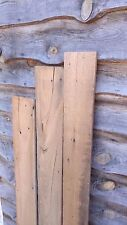 """3 Wormy Chestnut Boards furniture Reclaimed Lumber 56"""" x 5.5 - 6.5"""" x 5/8"""" thick"""