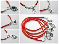"20 Red String Evil Eye Hamsa Hand ""Star of David"" Charms Good Luck Bracelets"