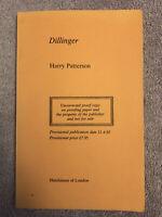 Jack Higgins (as Harry Patterson) DILLINGER - 1st ed. (1983) UNCORRECTED PROOF