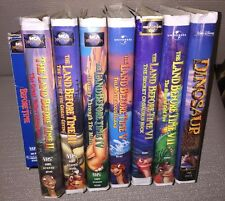 Lot Of 8 VHS Land Before Time Volumes 1-7  LittleFoot CLASSIC + Bonus Dinosaurs