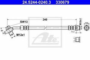 Flexible de frein AUDI A4 (8D2, B5) A4  (8D2, B5) A4 Avant (8D5, B5) 40066331064