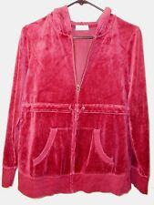 OLD NAVY Maternity women's maroon velour texture zip front hoodie size M