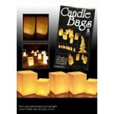 + Set da 5 sacchetti lanterna in carta  arredo feste crea atmosfera candle bags