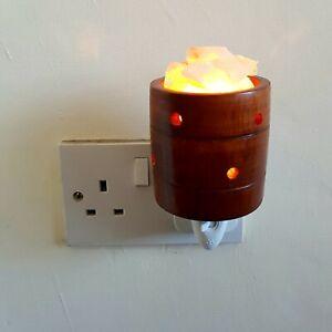 Himalayan Pink Salt Night Light Natural Crystal Rock Ionizing Lamp UK Plug& Bulb
