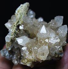 New Find NATURAL Skeletal Elestial Candle QUARTZ Crystal Cluster Point Specimen