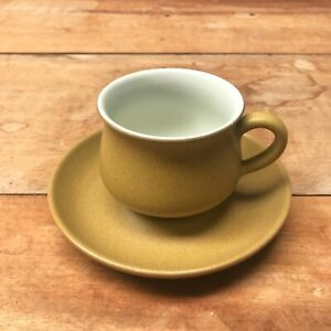 Denby Pottery Cup and Saucer Duo(s), Ode, 1960s