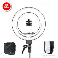 """18"""" Dimmable Continuous Lighting Ring Light Video Photography w/ Bag 5500K"""