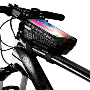Mountain Bike Frame Storage Bag Bicycle Front Top Touch Screen Holder Waterproof