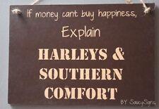 Harley Davidson & Southern Comfort Whiskey Sign Biker Bar Motorcycles Man Cave