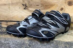Giro Riela Black Grey MTB Cycling Spin Bike Shoes Women's Size 38 EU 7 6.5 US