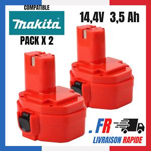 Batterie pour Makita 14.4V 3.5Ah 3500mAh Ni-MH  PA14 1420 1422 1433 1434 1435 x2