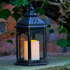 Garden Candle Lantern Smart Battery Moroccan Style Outdoor or Indoor Decoration