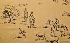 Ralph Lauren Foxhound Embroidery Dog Horse Hunting Black on Chino B