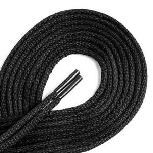 Black Strong 75cm Round Shoe Laces For Shoes / Boots  Shoe Care School Work 99p
