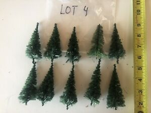 (LOT 4) LOT OF 10 TREES HO SCALE LIKE NEW