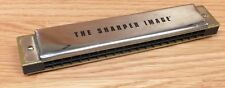 Genuine The Sharper Image 20 Note Hand Harmonica Silver and Gold Tone **READ**