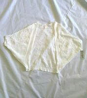 Cat & Jack Girl's Eyelet Ribbed White Open Shrug Cardigan Size XL(14/16)