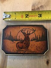 Belt Buckle Leather Elk