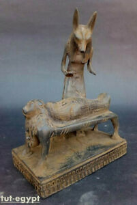 RARE ANCIENT EGYPTIAN ANTIQUES Statue Of God ANUBIS Lord of Mummification1760 BC