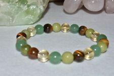 Prosperity Abundance Bracelet Jade Citrine Tiger Eye Gemstone Wealth Success