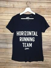 Horizontal Running Team Pitch Perfect Graphic Tee Small V Neck