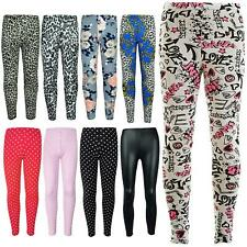 Kids Girls Leggings Designer Stylish Party Fashion School Trendy Legging 7-13 Yr