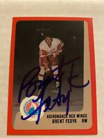 Brent Fedyk Signed 1988 Adirondack Red Wings Card