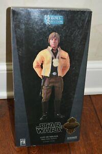 """Sideshow Exclusive Star Wars 1/6 Scale """"Luke Skywalker Rebel Hero: Yavin IV"""" NIB"""