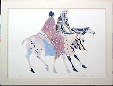 Carol Grigg Editions Gallery Lithograph of Watercolor Native American Cherokee