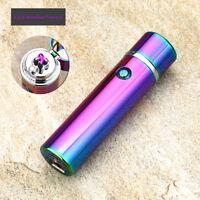 Electric Dual Arc Plasma USB Recharge Flameless Windproof Lighter JL108 Rainbow