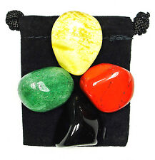 TAKING CHARGE Tumbled Crystal Healing Set = 4 Stones + Pouch + Description Card