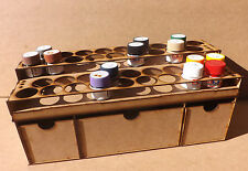Paint Stand 36 pot rack /w Deep drawers Tamiya Acrylic warhammer 40k wargames