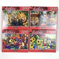Cra-z-Art Artbox 500 Piece Jigsaw Puzzles Mixed Lot Of 4  Ages 9+