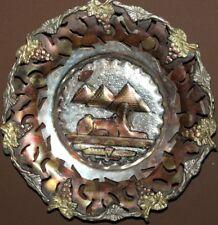 VINTAGE EGYPTIAN HAND MADE ORNATE METAL WALL HANGING PLATE