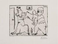 Pablo Picasso, original Aquatintaradierung, signiert und bezeichnet.