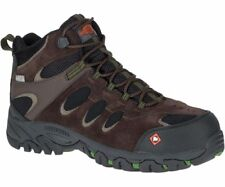 Merrell Ridgepass Bolt Mid Waterproof Comp Toe Work Boot Brown J15803 Men's 10.5
