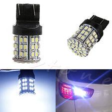 2X T20 W21W 7443 7440 LED 64-SMD 1206 Tail Stop Brake Light Bulb Lamp White