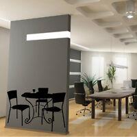 Sticker Mural Table et chaises fer forgé - Trompe l'oeil