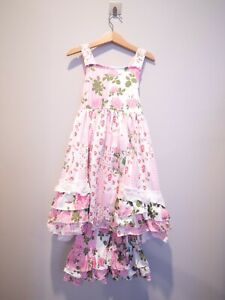 NWT 2 pcs Flower outfit summer top hobo bottom set boutique pink girls 4 5 6 7 8