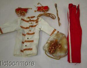 VINTAGE BARBIE KEN DOLL FASHION CLOTHES #775 DRUM MAJOR UNIFORM NEAR COMPLETE