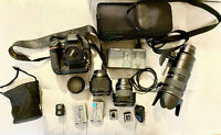 Nikon D5 Dual XQD Slots  Camera Body + 4 LENSES+ 2 XQD cards + 2 batteries+WIFI