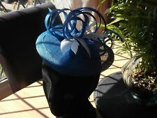 wedding's  hat Ascot Races royal blue formal Fascinator mother of the bride